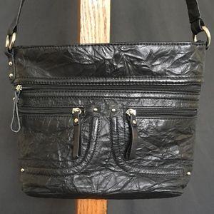 Stone & Co. Black Leather Crossbody / Shoulder Bag